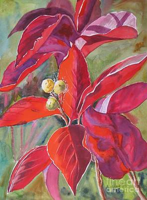 Garden Scene Painting - Scarlet by Mohamed Hirji