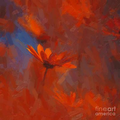 Scarlet Petals  Art Print
