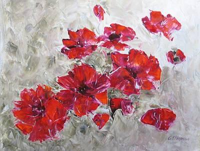 Scarlet Poppies Art Print