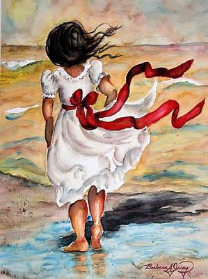 Scarlet Ribbon Art Print