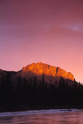 Photograph - Scarlet Yamnuska And Bow River by Richard Berry