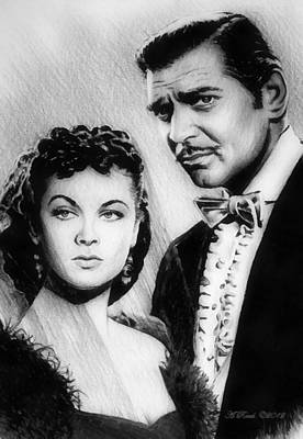 Scarlett And Rhett Art Print
