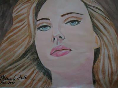Scarlett Johannson Art Print by Fladelita Messerli-