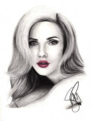 Drawing - Scarlett Johansson by Rosalinda Markle