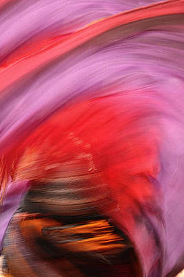 Photograph - Scarves In Motion by Nadalyn Larsen
