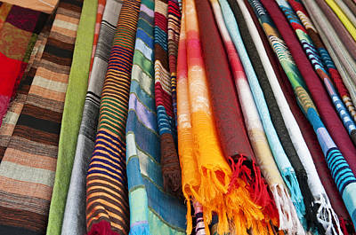 Photograph - Scarves by Mick House