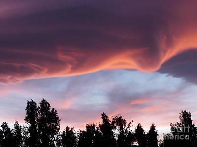 Scary Desert Sky Art Print by Deborah Smolinske