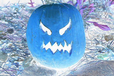 Photograph - Scary Pumpkin Invert by Richard Bryce and Family