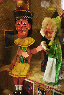 Punch Mixed Media - Scary Punch And Judy by Doc Braham