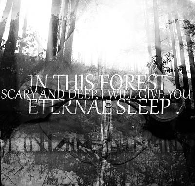 Digital Art - Scary Quote  by Svetoslav Sokolov