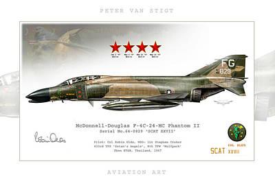 F-4c Digital Art - Scat Xxvii by Peter Van Stigt
