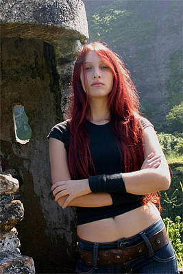 Photograph - Scatha - Angelica Burns - Vocals by Frederico Borges