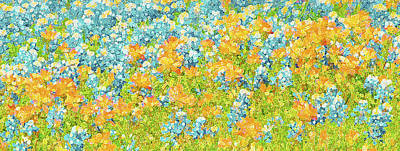 Scattered Impressions Bold Wildflowers  Original