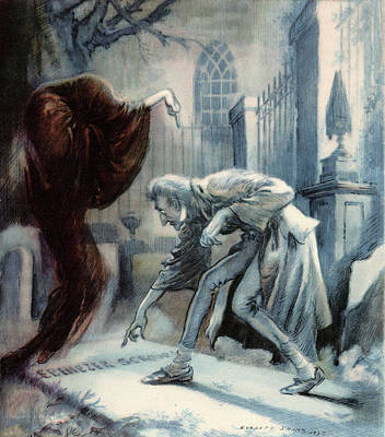 Sadness Painting - Scene From Charles Dickens Christmas by Vintage Images