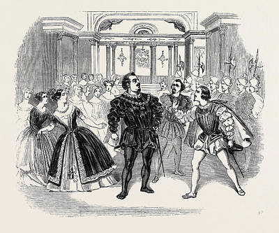 Scene From Costas Opera Of Don Carlos Art Print
