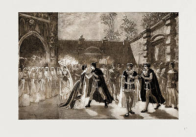 Luna Drawing - Scene From Il Trovatore At Covent Garden Theatre, London by Litz Collection