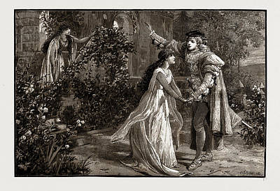 Scene From Mr. Mackenzies New Opera, The Troubadour Art Print by Litz Collection