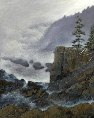 Scene From Quoddy Trail Art Print by Alison Barrett Kent
