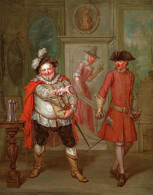Falstaff Painting - Scene From Shakespeares Henry Iv, Part I Scene From Henry by Litz Collection