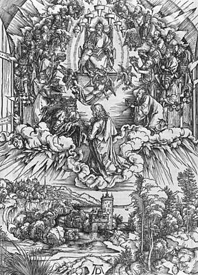 Scene From The Apocalypse Art Print by Albrecht Durer or Duerer