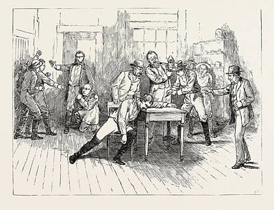 Philadelphia Street Drawing - Scene From The Close Of Act 1 Of Aldrich And Parsloes by American School
