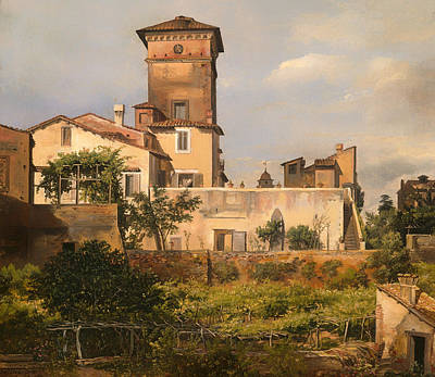 Villa Painting - Scene From Villa Malta by Mountain Dreams