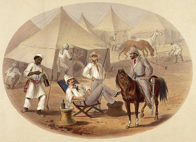 Scene In A Camp Art Print by British Library