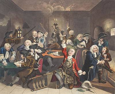 Scene In A Gaming House, Plate Vi Art Print by William Hogarth