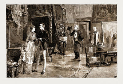 Scene In Act Iv. Of Young Folks Ways Art Print by Litz Collection