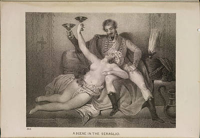 Depictions Of Nudity Photograph - Scene In The Seraglio by British Library