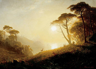 Yosemite Painting - Scene In Yosemite Valley by Albert Bierstadt