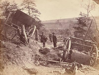 Scene Of Battle, Fredericksburg Art Print by Litz Collection
