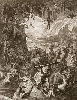Hades Drawing - Scene Of Hell, 1731 by Bernard Picart