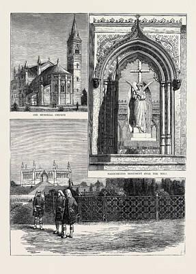 Garden Scene Drawing - Scene Of The Cawnpore Massacre Of 1857, Memorial Building by English School