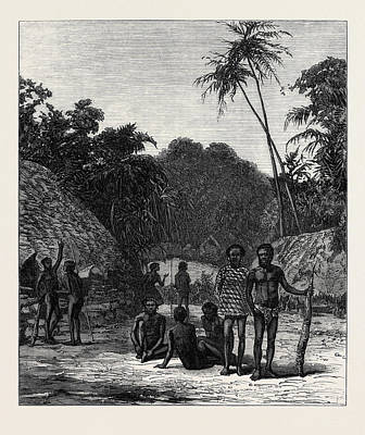Pacific Ocean Drawing - Scene Of The Murder Of Bishop Patteson Santa Cruz Pacific by English School