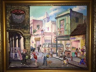 3 Dimensional Assemblage Painting - Street Scene In Havana by Haydee Scull