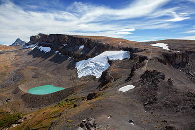 Schoolroom Photograph - Scenery With Schoolroom Glacier by Matt Stirn