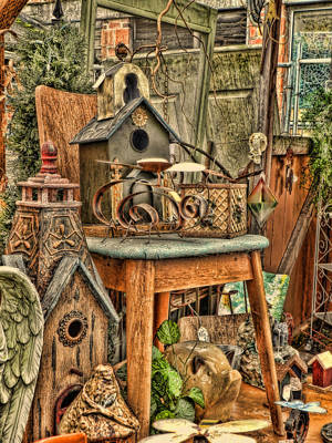 Yard Sale Digital Art - Scenes From An Outside Sale by Cathy Anderson