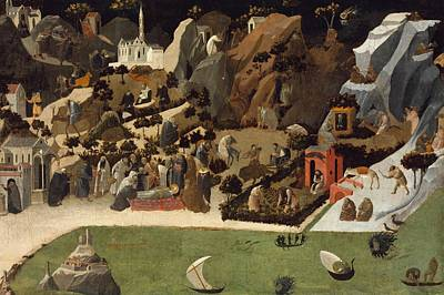 1420 Painting - Scenes From The Lives Of The Desert Fathers by Fra Angelico