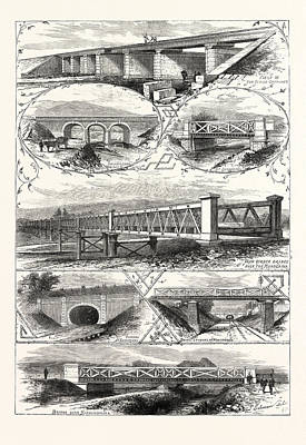 Kobe Drawing - Scenes On The New Railway In Japan Between Osaka And Kobe by Japanese School