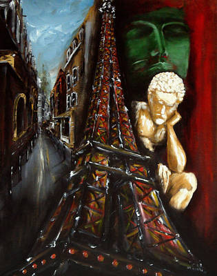 Painting - Scenes Parisiennes 3 by Ka-Son Reeves