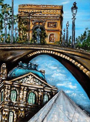Painting - Scenes Parisiennes 4 by Ka-Son Reeves