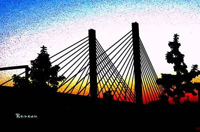 Photograph - Cable-stayed Bridge by Sadie Reneau