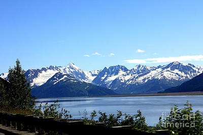 Art Print featuring the photograph Scenic Byway In Alaska by Kathy  White