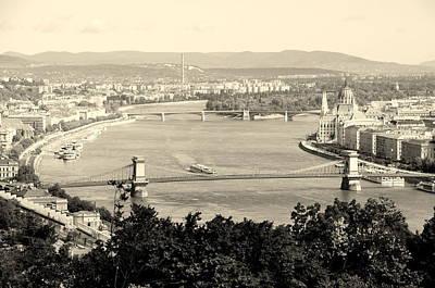 Photograph - Scenic Danube In B W by Caroline Stella