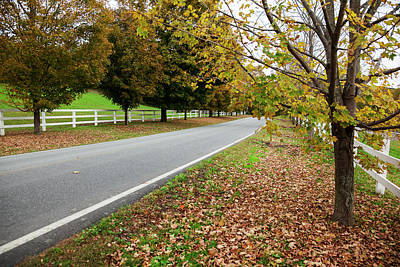 Photograph - Scenic Farm Road In Autumn  Woodstock by Jenna Szerlag