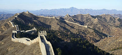 Scenic Great Wall Of China Art Print by Brendan Reals