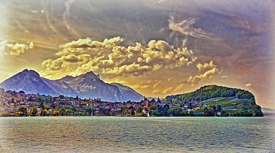 Photograph - Scenic Lake Thun by Hanny Heim