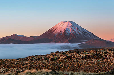 Scenic Landscape With Ngauruhoe Volcano Art Print by Matteo Colombo