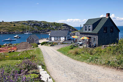 Maine Landscape Photograph - Scenic Monhegan Island by Susan  Degginger